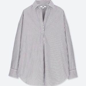Fine Cotton Long Sleeve Striped Shirt